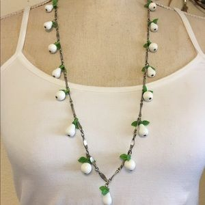 Vintage 60s apple and pear beaded necklace